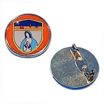 27mm premium silver badge clasp